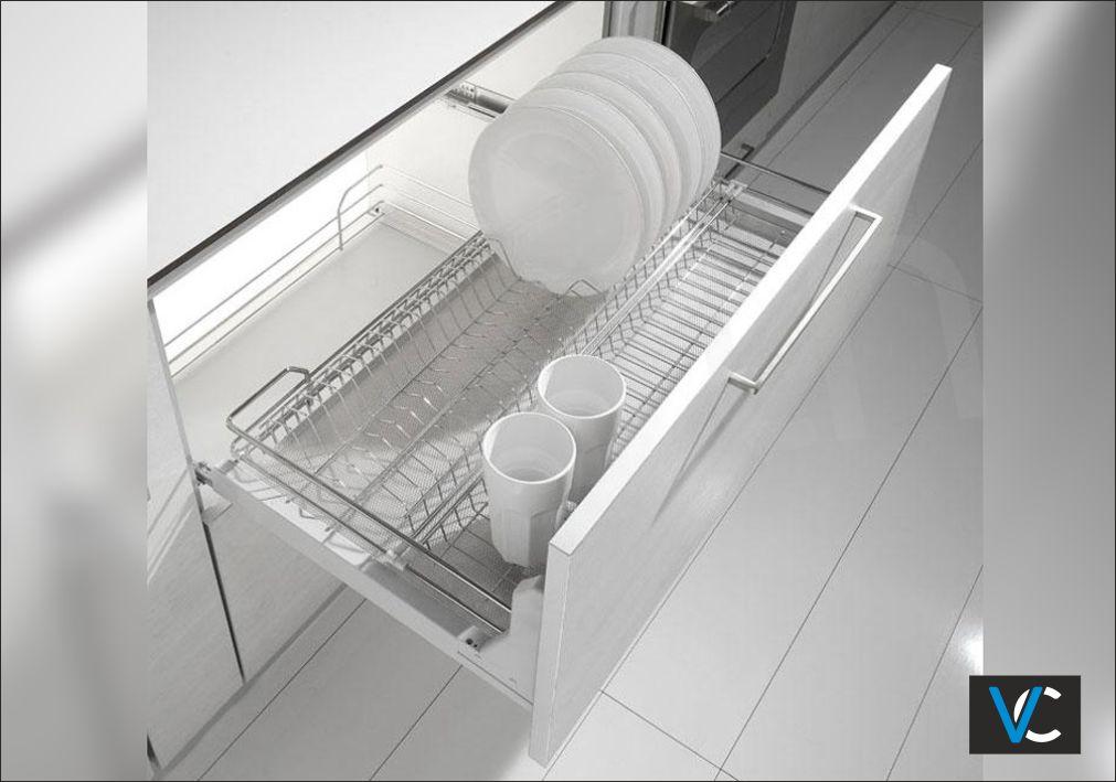Συρμάτινο συρτάρι πιατοθήκη - ποτηροθήκη 2